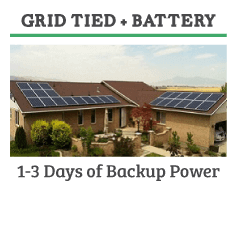 grid tied plus battery solar panel system