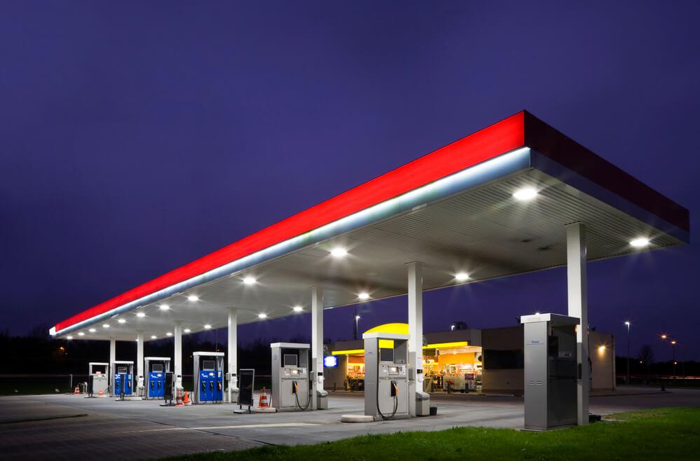solar powered gas station
