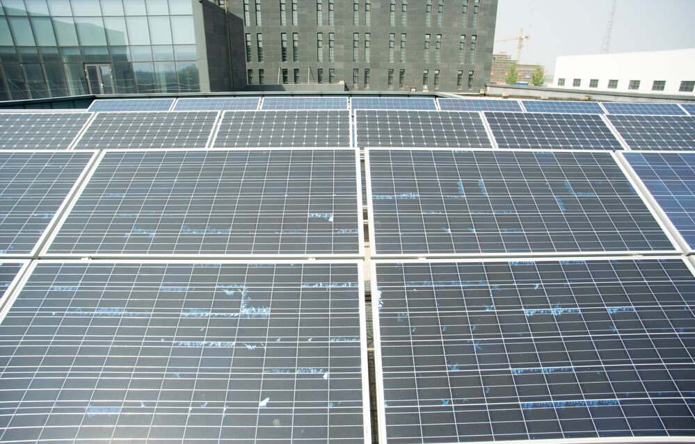 Old solar panels