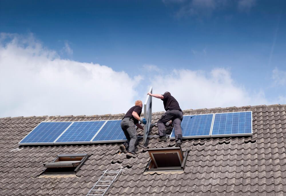 solar panels roof leak