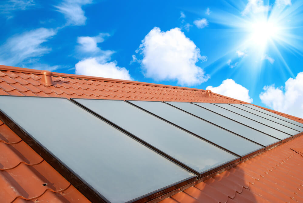 Solar PV system on tile roof