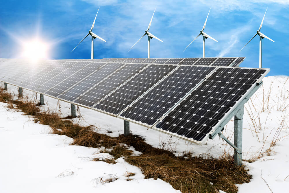 Solar Panels Workin the Winter