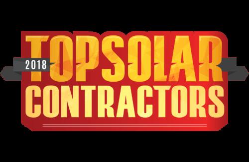 2018 top solar contractors award